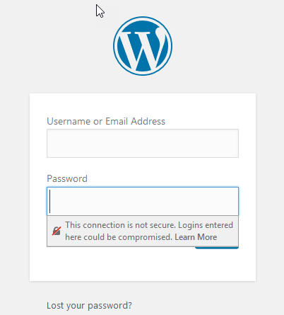 Wordpress-not-secure-firefox - SSL Certificates Improve SEO